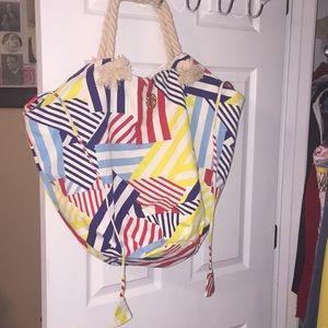 Striped beach bag too cute